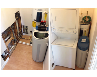 Installation of a water softener and reverse osmosis system