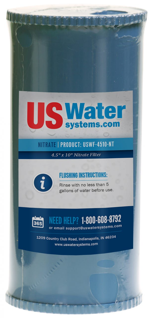 Us Water Nitrate Removal Filter Cartridge 4 5 X 10 Uswf 4510 Nt