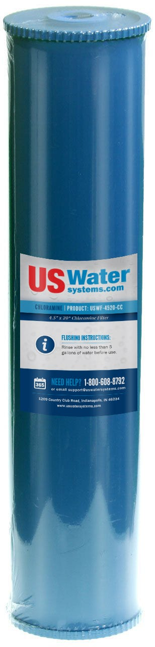 "US Water Chloramine Removal Cartridge 4.5"" x 20"" 