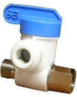 "John Guest 3/8"" x 3/8"" x 1/4"" Outlet Angle Stop Adapter Valve"