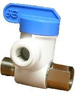 "John Guest 3/8"" x 3/8"" x 3/8"" Outlet Angle Stop Adapter Valve"