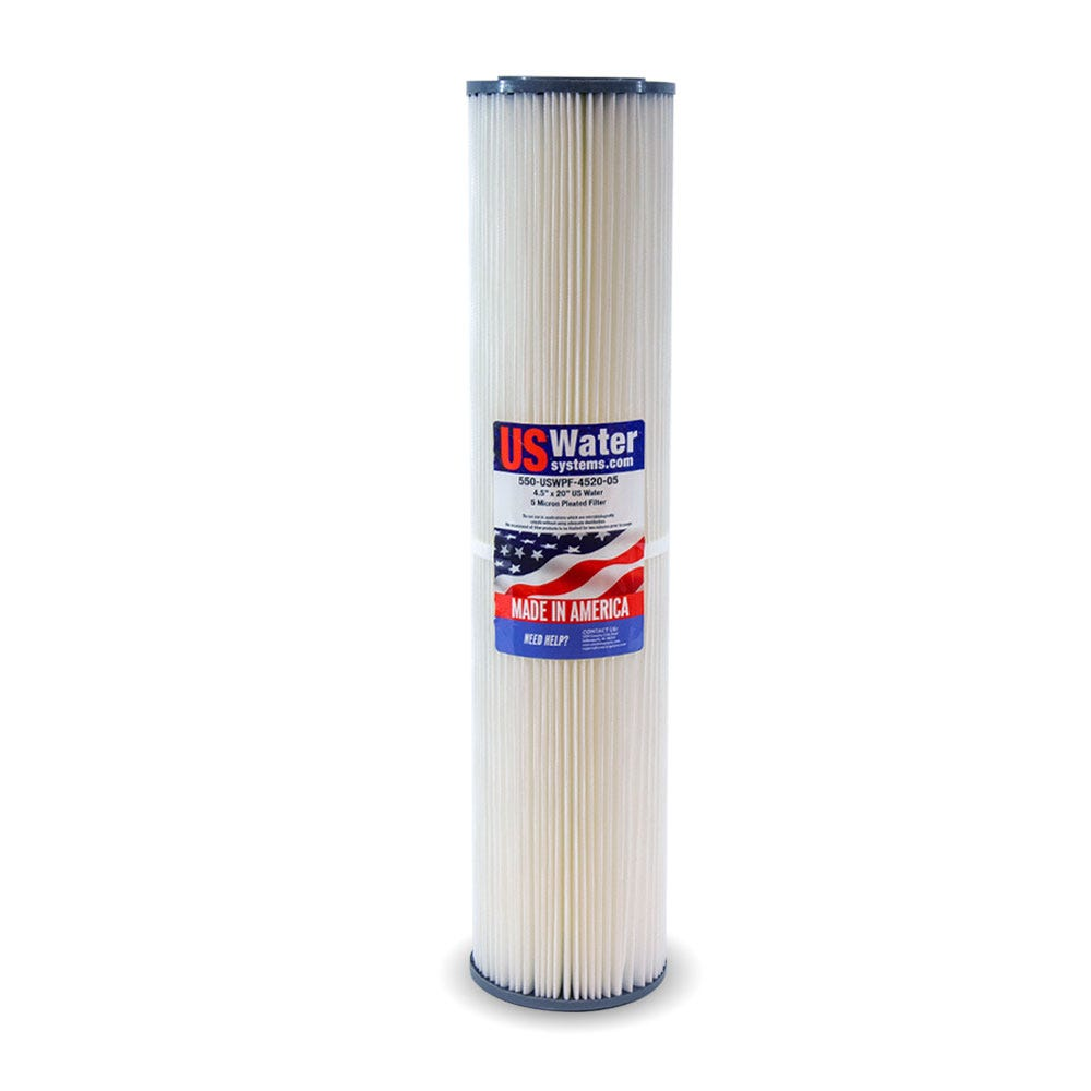 5 Micron Hydronix SPC-45-2005 Polyester Pleated Filter 4.5 OD X 20 Length