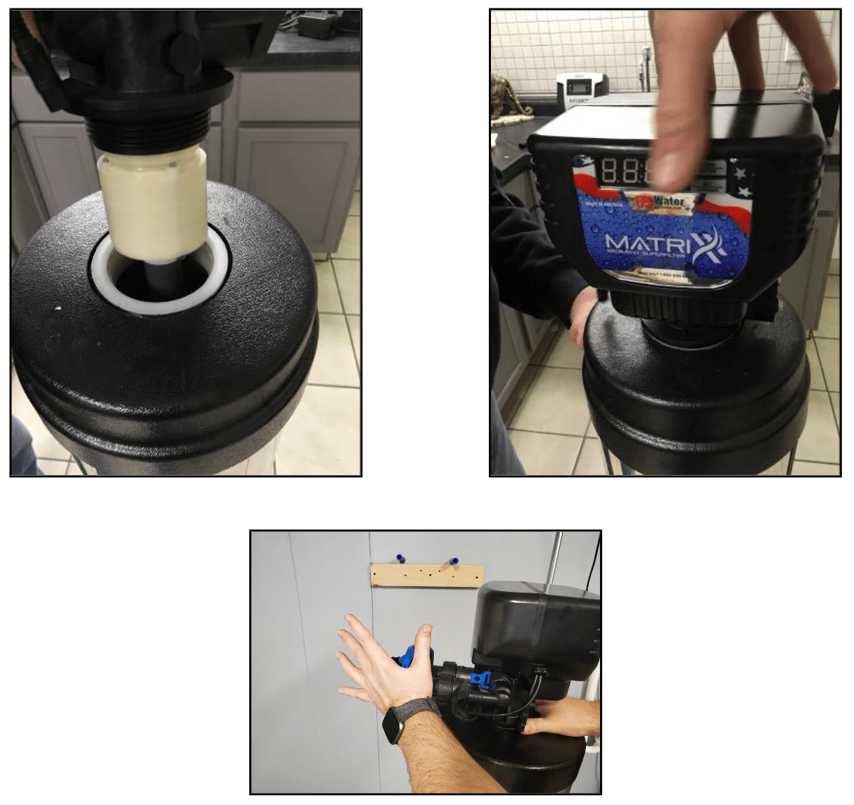 step 8 on how to assemble a water softener