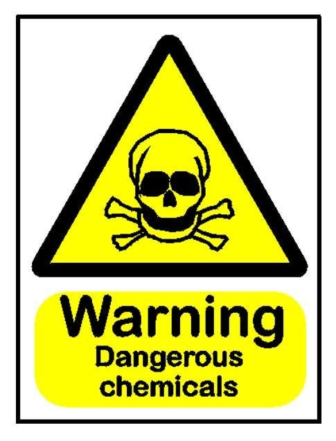 Warning Dangerous Chemicals