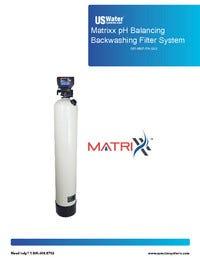 US Water Matrixx pH Balancing Filter Manual