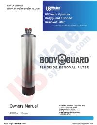 US Water Fluoride Filter Manual