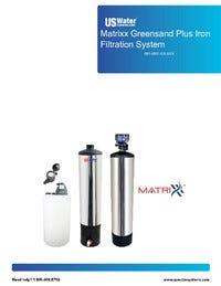 US Water Matrixx Greensand Filter Manual