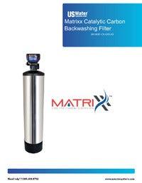 Matrixx Catalytic Carbon Backwashing Filter Manual