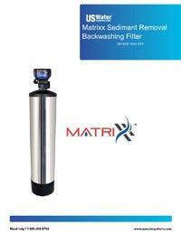 Matrixx Sediment Removal Backwashing Filter Manual