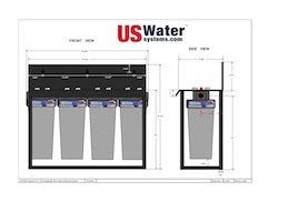 US Water Quad Floor Mount Housing Dimensions