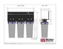 US Water Triple Housing Dimensions
