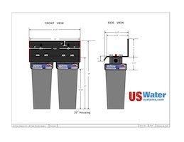 US Water Dual Housing Dimensions