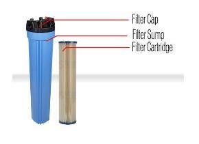A diagram of the different parts of a water filter