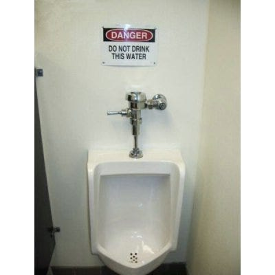 do not drink toilet water