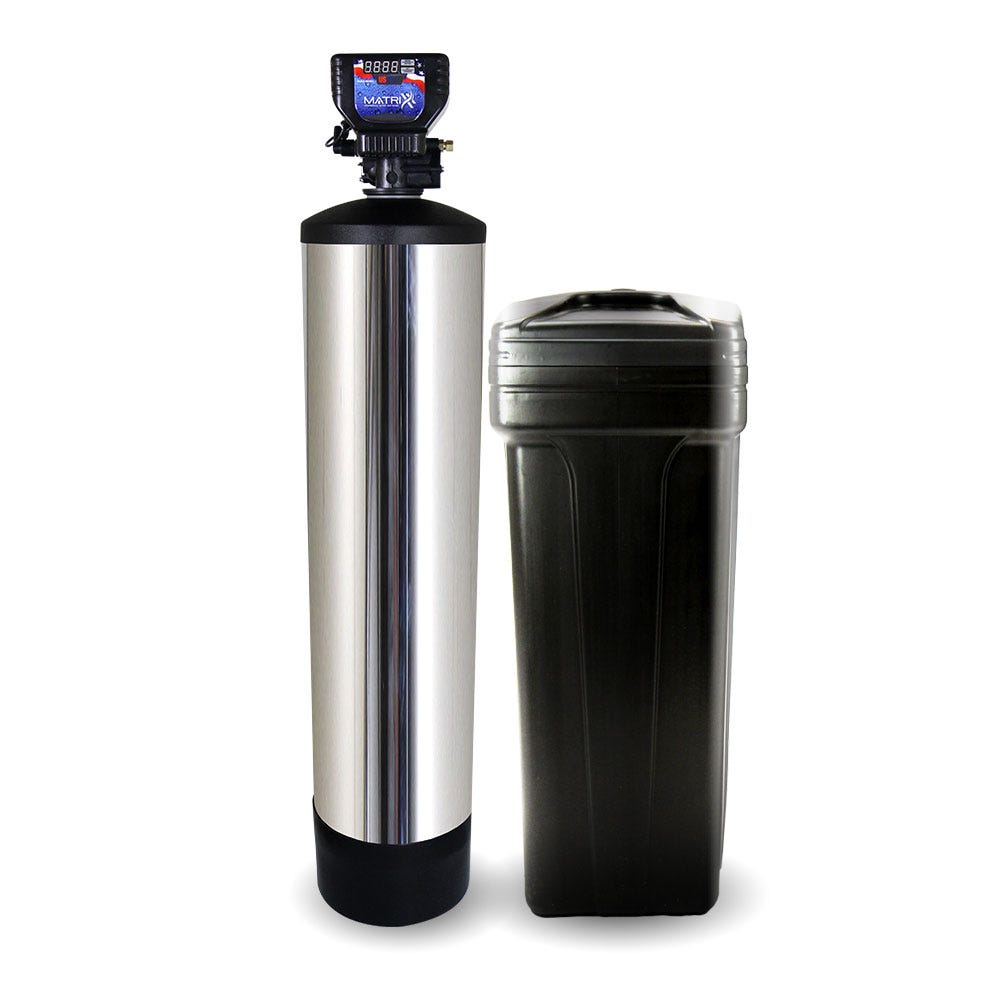 A water softener designed for DIY installation